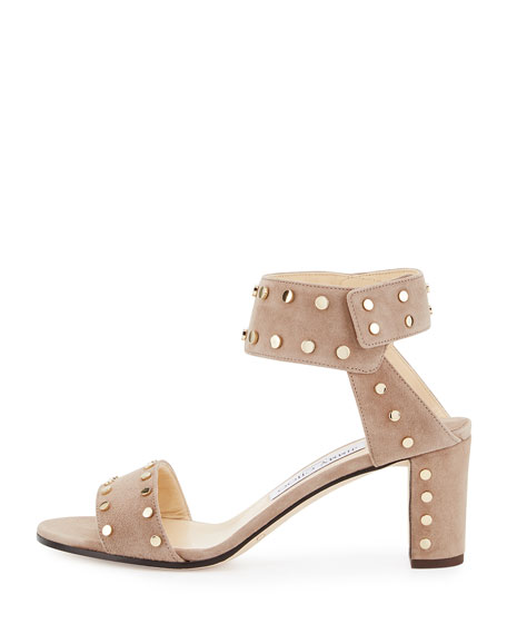 73cef9781a5b Jimmy Choo Veto Studded Suede City Sandals