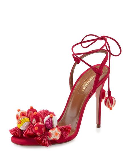 Tropicana Tassel 105mm Sandal, Pink