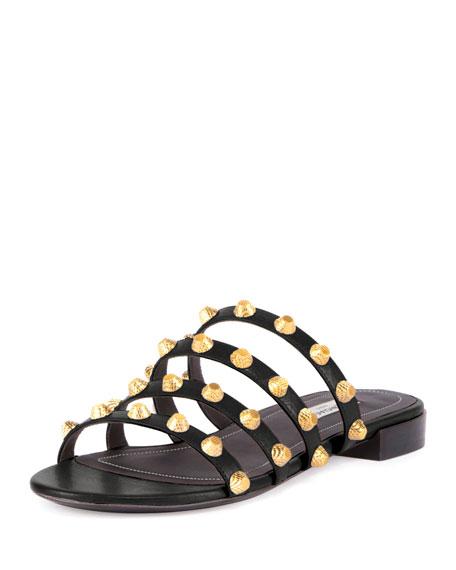 Balenciaga Studded Flat Slide Sandal