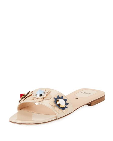 Fendi Flowerland Slide Sandals ost release dates outlet cheap prices vpBsVzLyX