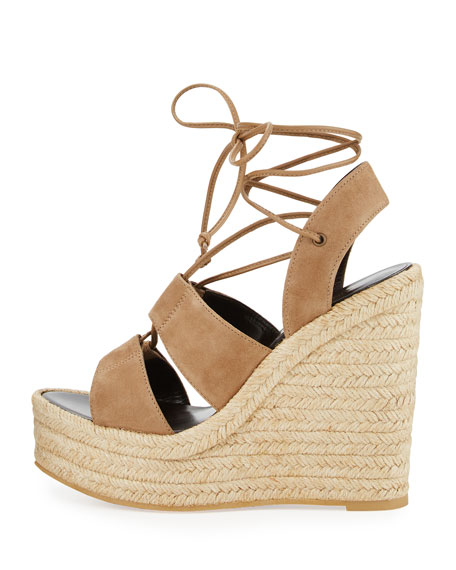 e1b76304b057 Saint Laurent Suede 95mm Espadrille Wedge Sandals