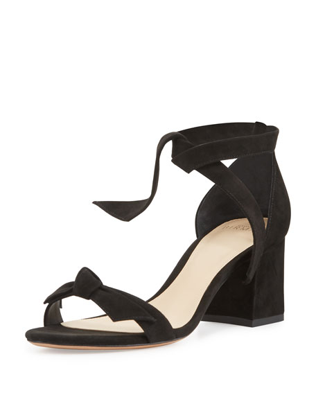 Alexandre Birman Clarita Suede 60mm City Sandal, Black