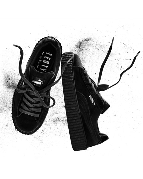 Velvet Creeper Sneaker, Black