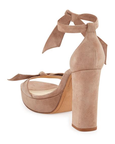 Mabeleh Suede 110mm Platform Sandals, Neutral