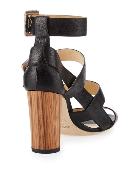 Maya Leather 85mm Sandal, Black