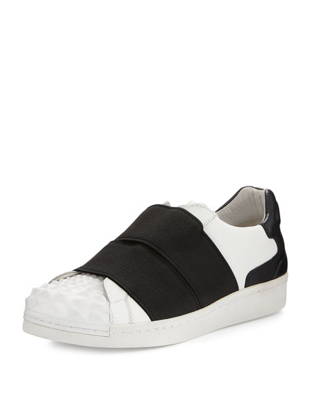 Clip Elastic Slip-On Sneaker, White
