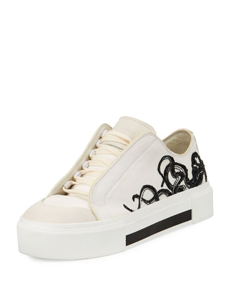 Alexander McQueen Embroidered High Top Sneaker  UPt4lOYb