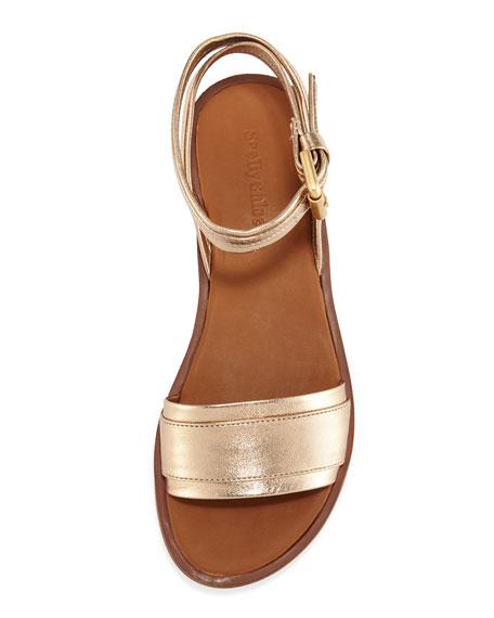 Robin Metallic Leather Flatform Sandal