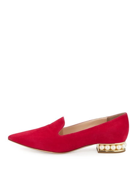 Casati Pearly Suede Loafer, Pink