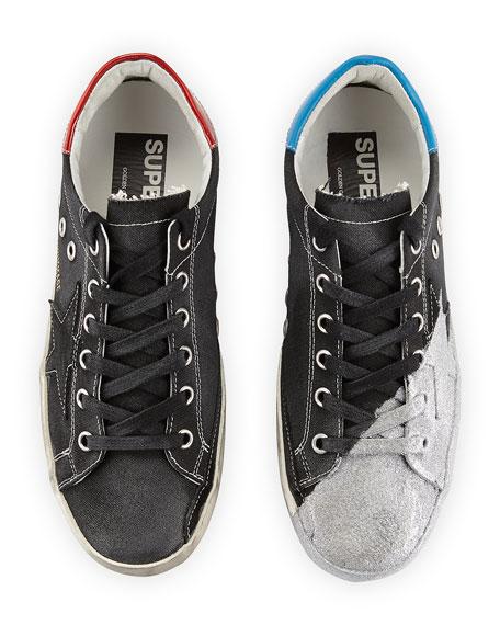 Metallic Star Low-Top Sneaker, Black