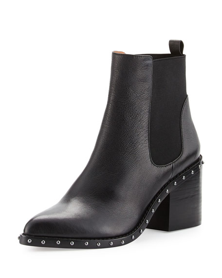 Derek Lam 10 Crosby Renee Leather Ankle Boot,