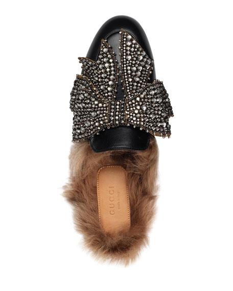93f0474d02d3 Gucci Princetown Bow Fur-Lined Mule