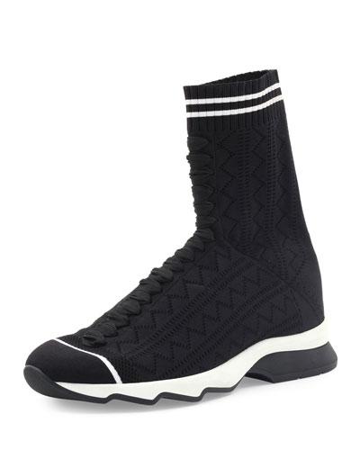 zigzagknit sock sneaker quick look fendi