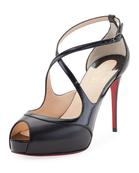 on sale b474e cdcda Mira Bella Leather Red Sole Sandal Black