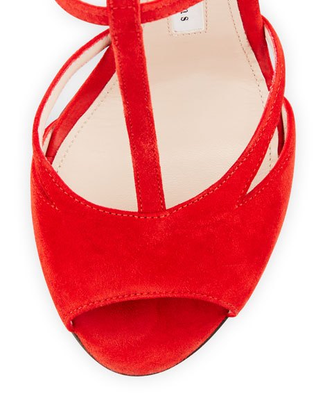 Suede Cage 115mm Sandal