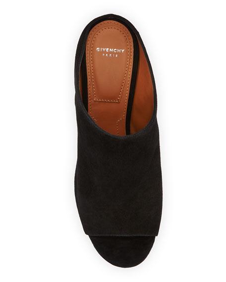 Paris Studded Suede Mule Sandal, Black