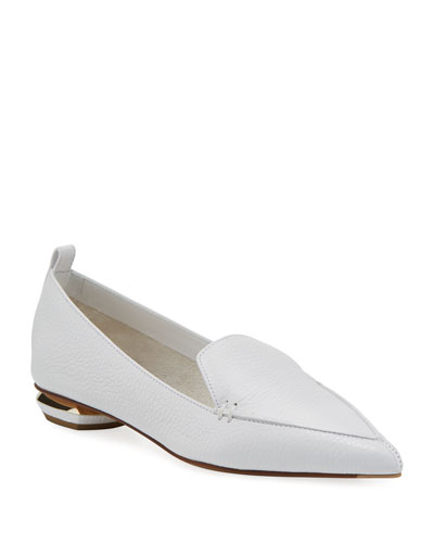 7bf3a5a8eb6aa0 Beya Flat White Leather Loafer Quick Look. Nicholas Kirkwood