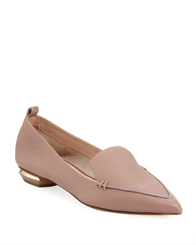 Beya Calf Leather Point-Toe Loafer Flat