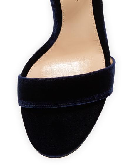 Gala Velvet & Satin Ankle-Tie Sandal