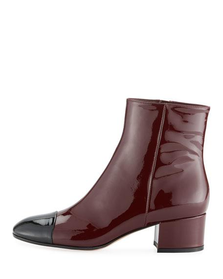 Langley 45 Patent Cap-Toe Block-Heel Boot