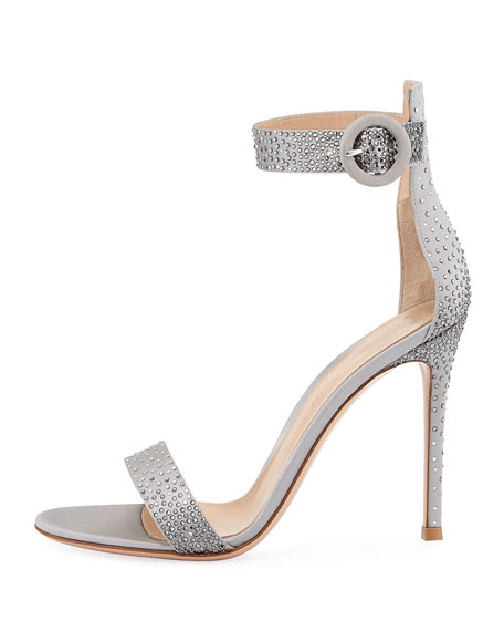 Elysium Crystal-Embellished Silk 105mm Sandal