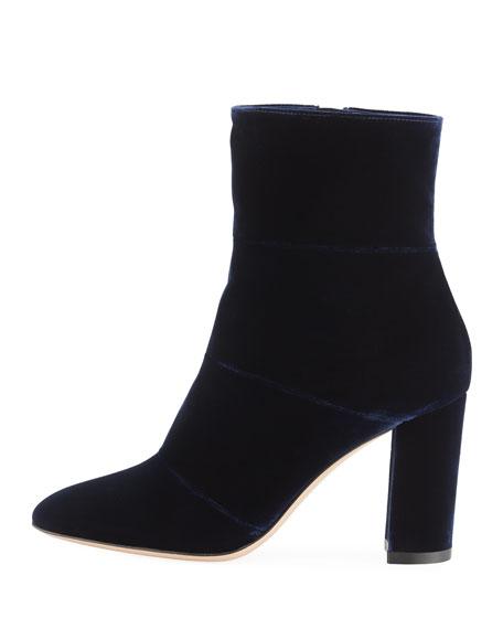 Velvet Block-Heel 85mm Boot