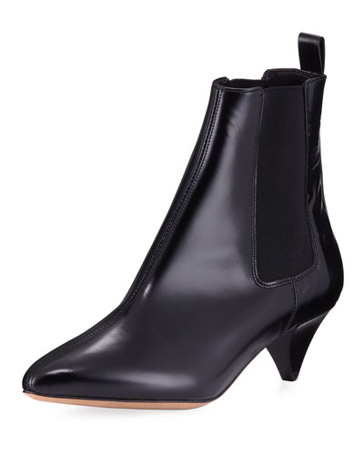 Dawell Low-Heel Leather Boot
