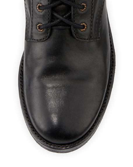Teylon Studded Ankle-Cuff Moto Boot, Black