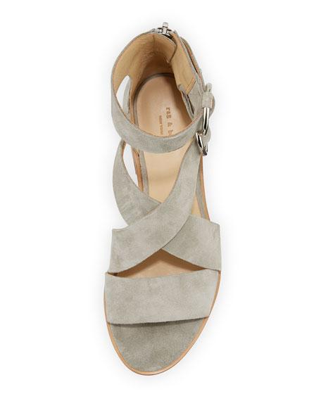 Mari Suede Strappy Flat Sandal