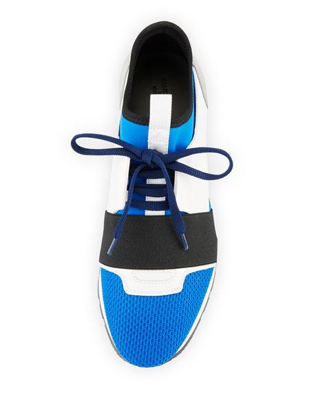 Mesh & Leather Runner Sneaker
