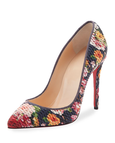 christian louboutin pigalle follies quilted floral 100mm red sole rh bergdorfgoodman com