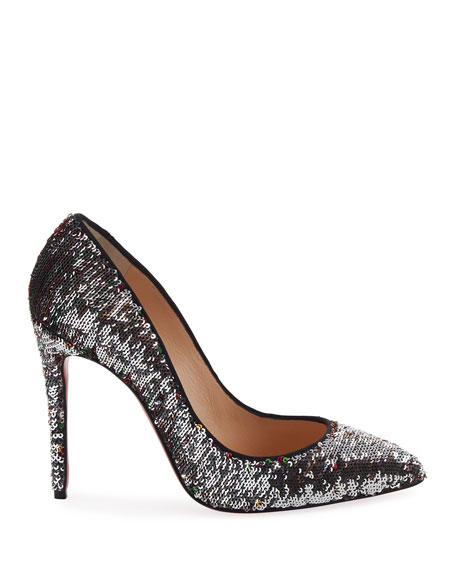 Pigalle Sequin Red Sole Pump