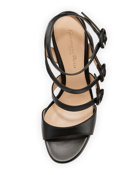 Mali Leather Multi-Strap Block-Heel Sandal