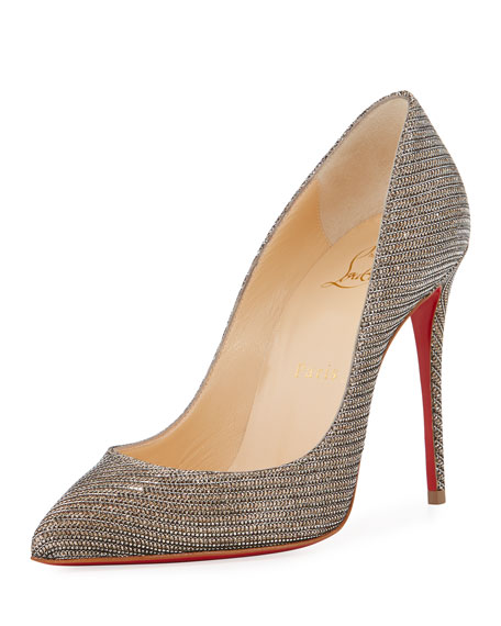 Christian Louboutin Pigalle Follies 100Mm Red Sole Pump 0464fd6418bb