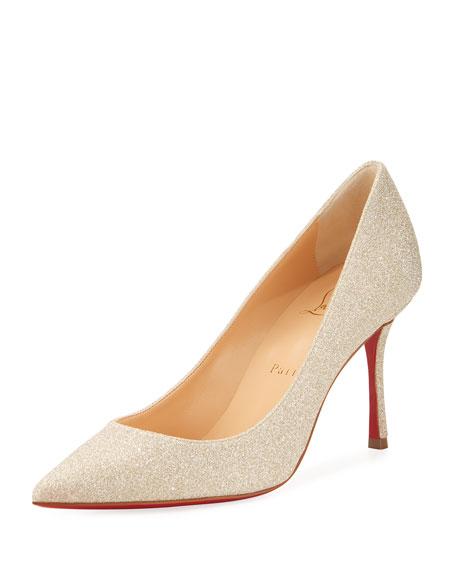 Christian Louboutin Decoltish Glitter Red Sole Pump