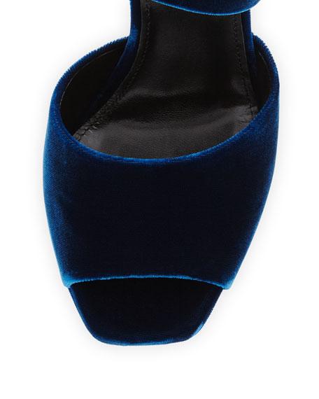 Debbie Velvet Platform Sandal