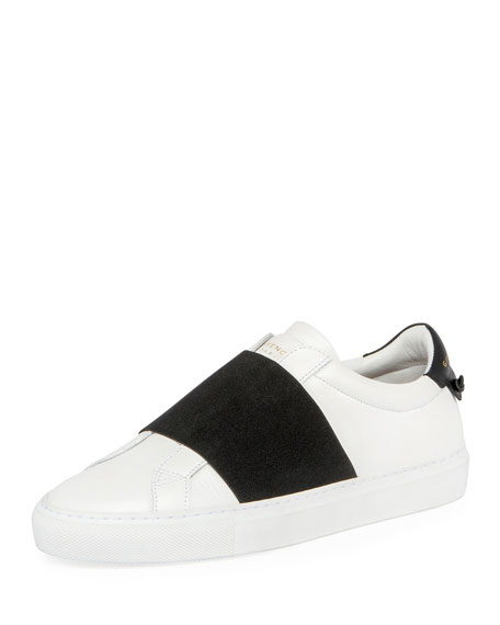 Givenchy Urban Knots Elastic Slip-On Sneaker, White/Black