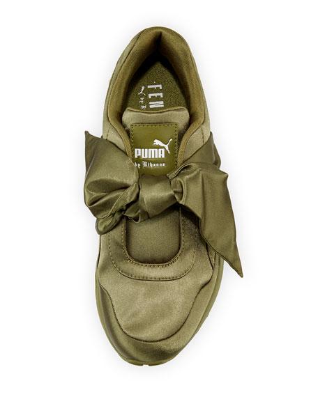 Fenty Par Pumas Rihanna Trinomic Nouée Un Noeud De Satin Vert Sneaker 8VzOiQ5