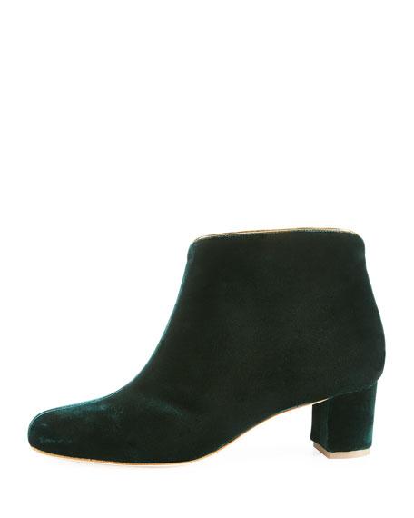 Eula Velvet Ankle Boot, Green
