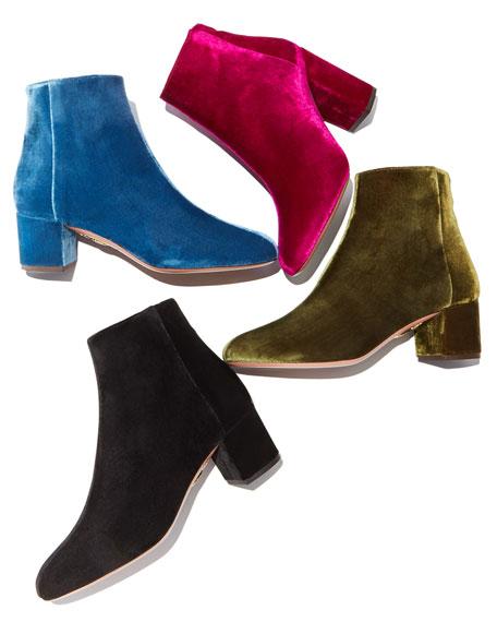Brooklyn Velvet Block-Heel Boot