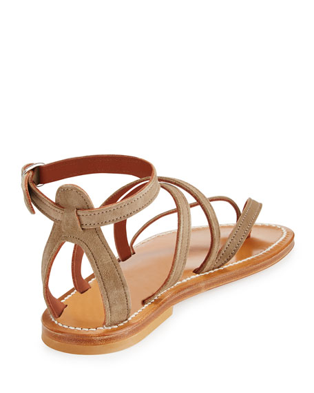 Epicure Strappy Flat Gladiator Sandal
