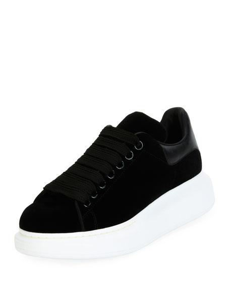 Alexander McQueen Velvet Low-Top Wedge Sneaker f2ba8ef658