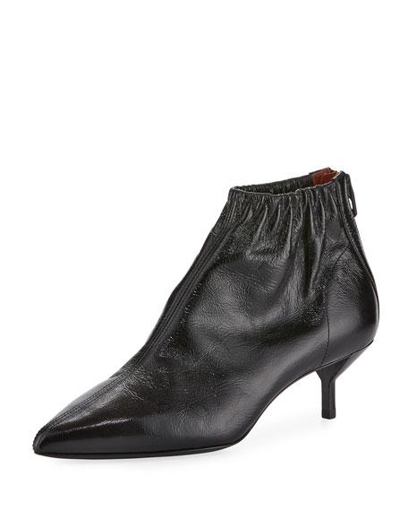 3.1 Phillip Lim Blitz Ruched Leather Bootie, Black