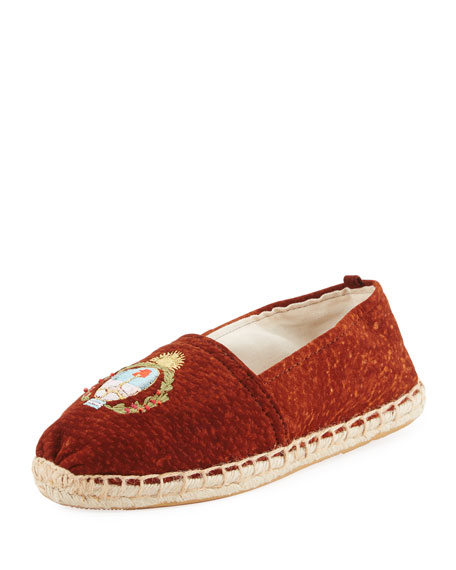 Capybara Leather Espadrille Flat, Brown