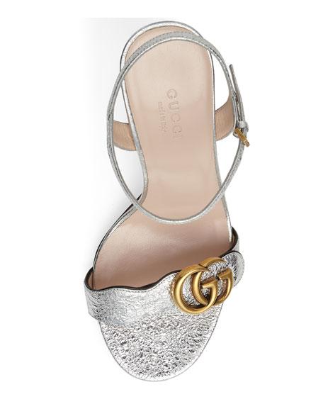 Marmont Metallic Leather Sandal