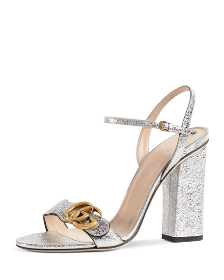 Image 1 of 1: Marmont Metallic Leather Sandal