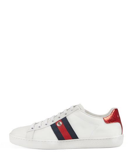 New Ace Panther Low-Top Sneaker, White