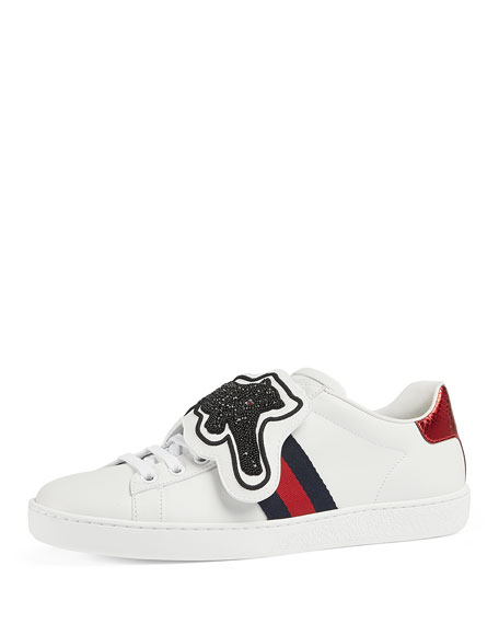 New Ace Panther Low-Top Sneakers, White