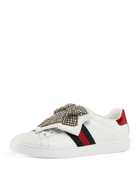 Image 1 of 1: New Ace Bow Lace Patch Sneaker