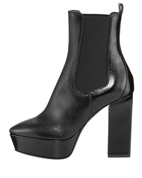Vika Patent Platform Chelsea Boot